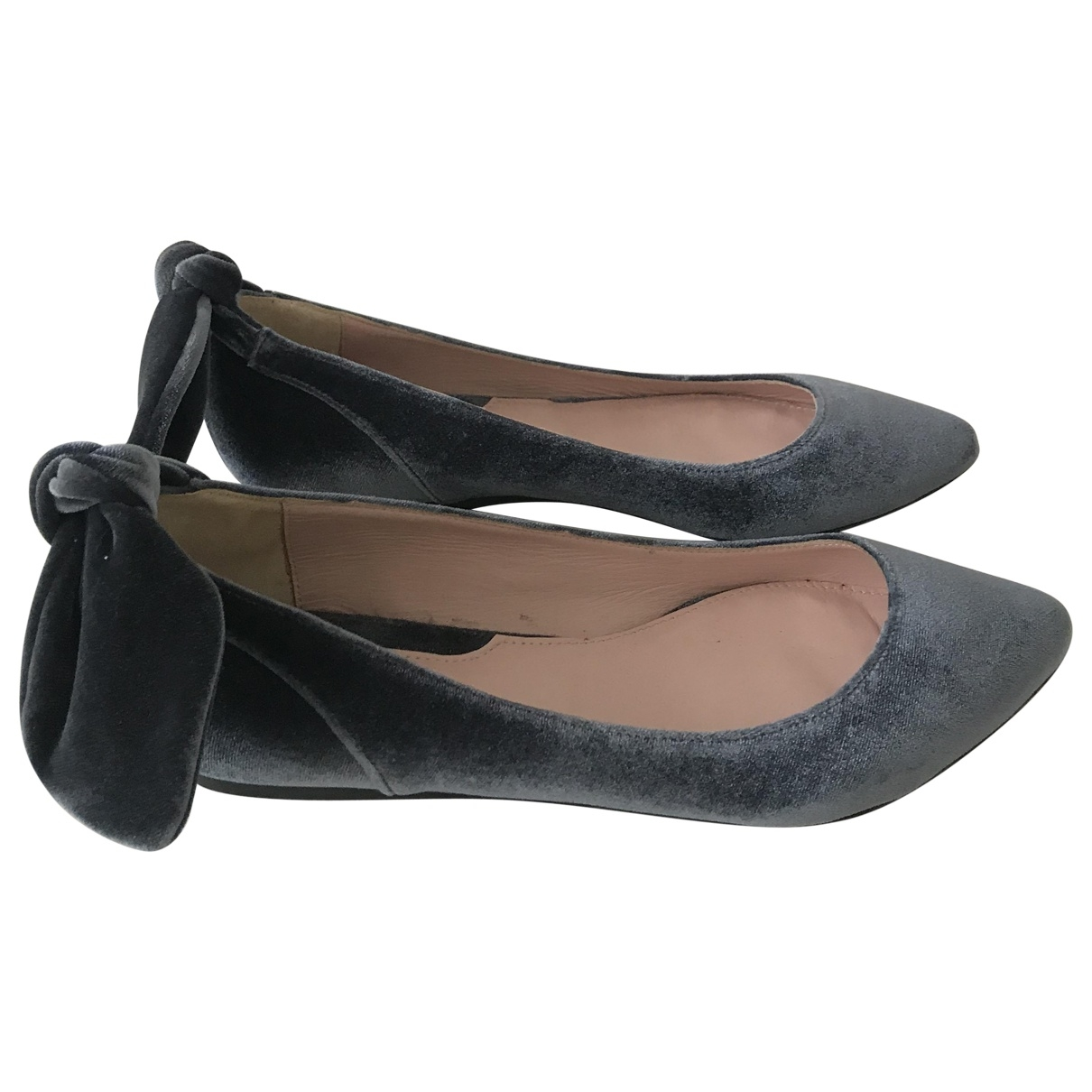 Carven \N Blue Velvet Ballet flats for Women 37 EU