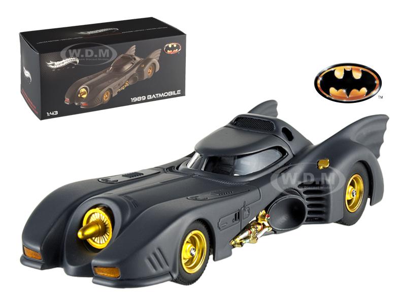 1989 Movie Batmobile Elite Edition 1/43 Diecast Model Car by Hotwheels