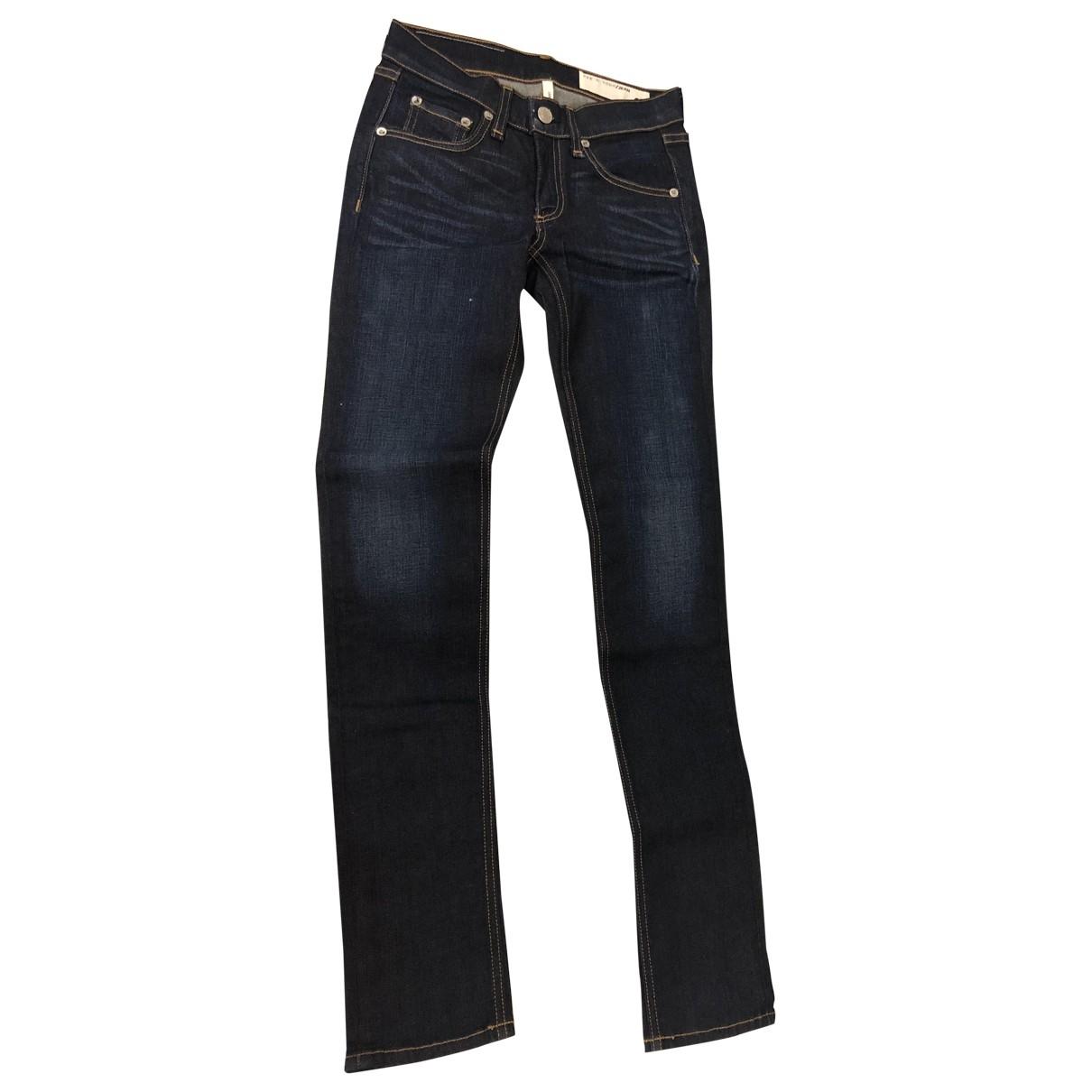Rag & Bone \N Blue Cotton Jeans for Women 24 US
