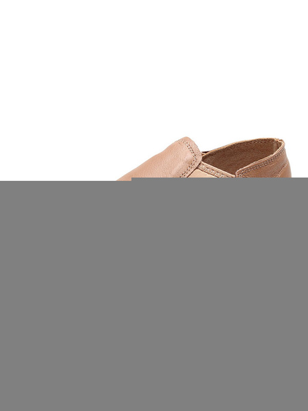 Milanoo Jazz Dance Shoes Black Round Toe Patched Pig Skin Dance Shoes