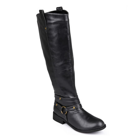 Journee Collection Womens Walla Wide Calf Riding Boots, 9 Medium, Black