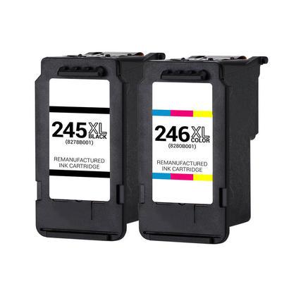 Canon PG245XL CL246XL cartouche d'encre remanufacturée noire et couleur combo - boîte économique