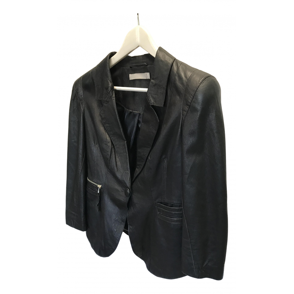 Dna \N Black Leather Leather jacket for Women M International