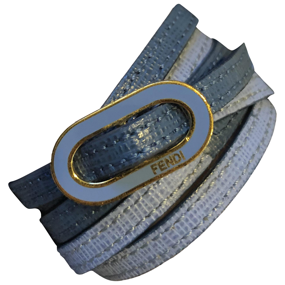 Fendi \N Blue Leather bracelet for Women \N
