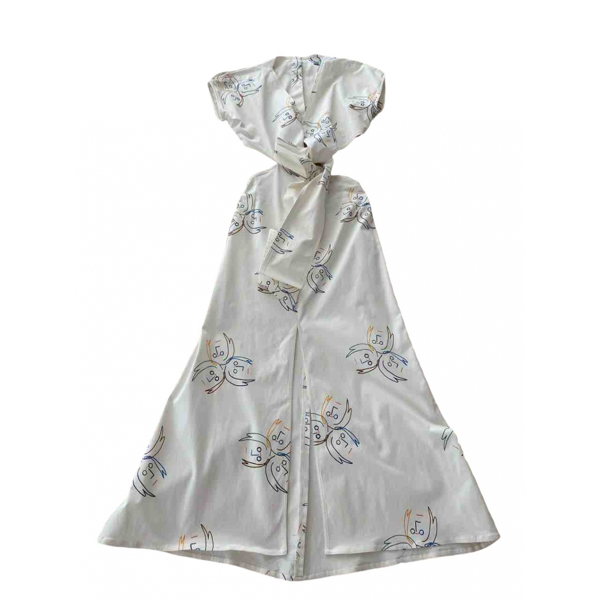 Silviatcherassi \N White Cotton - elasthane dress for Women S International