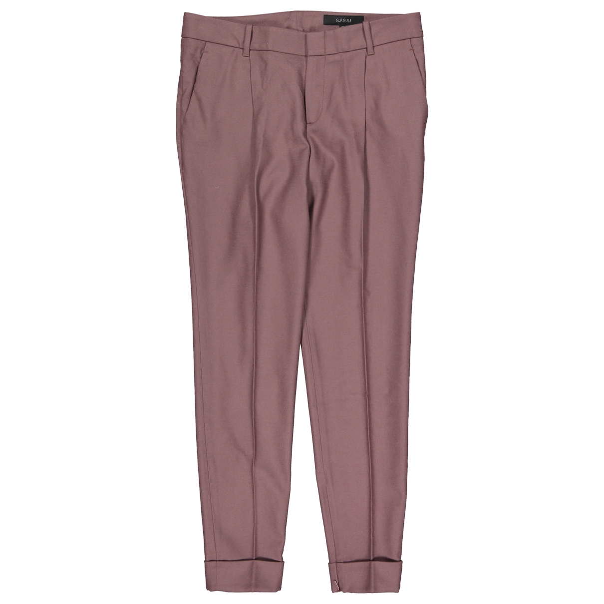 Gucci \N Brown Wool Trousers for Women 42 IT