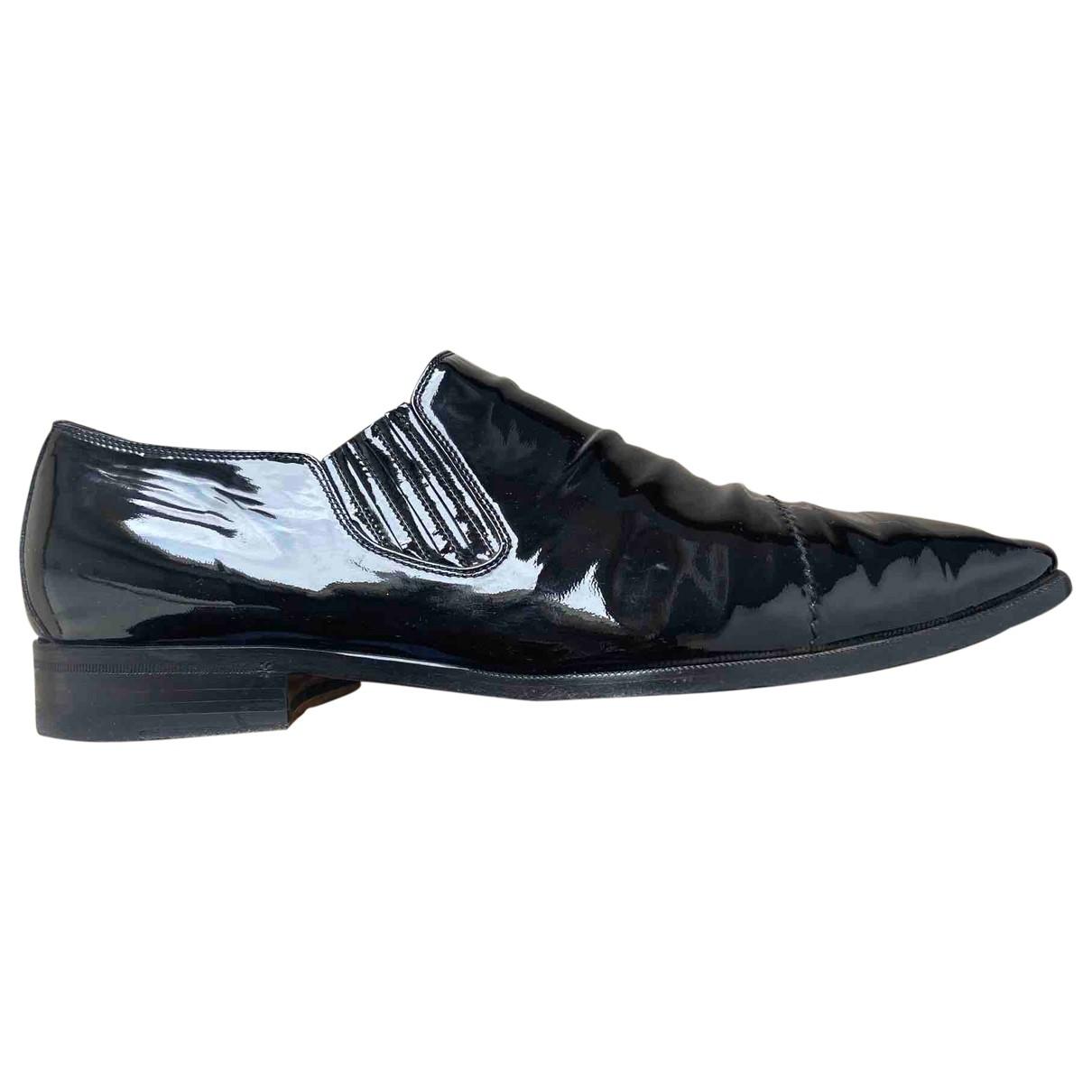 Gucci \N Black Patent leather Flats for Men 43.5 EU
