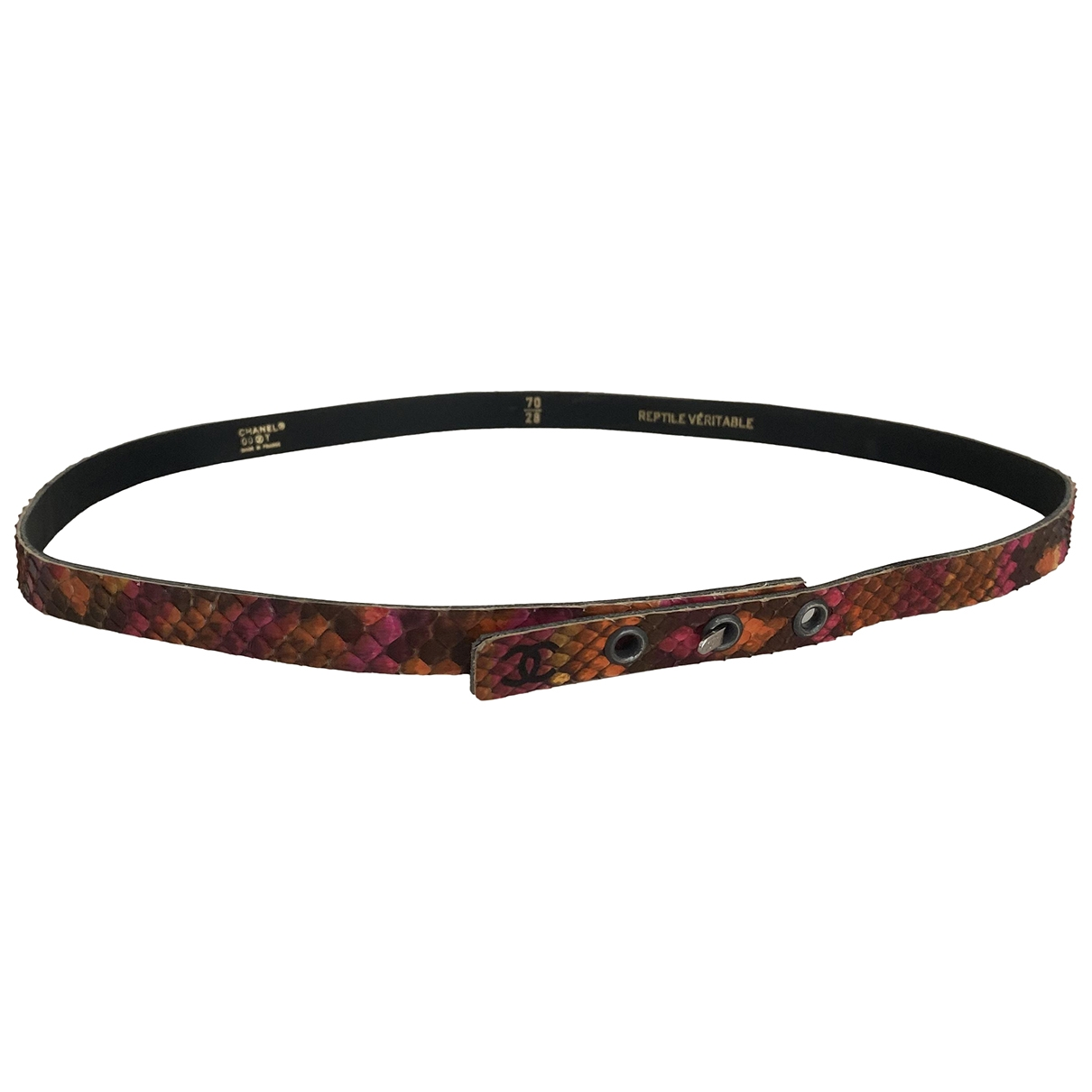 Chanel \N Multicolour Python belt for Women 70 cm