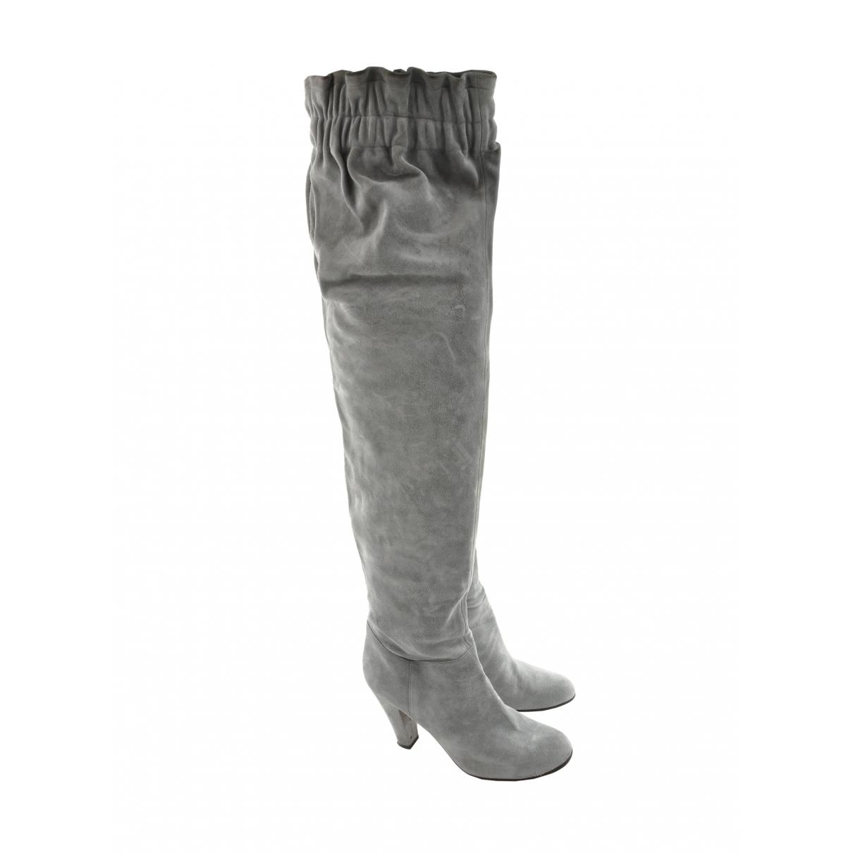 Dolce & Gabbana \N Grey Suede Boots for Women 40 EU
