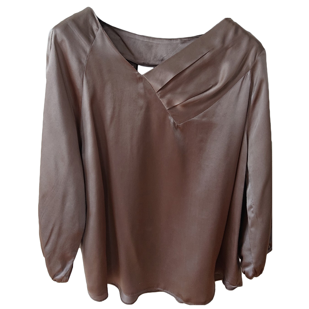 Non Signé / Unsigned \N Beige Silk  top for Women M International