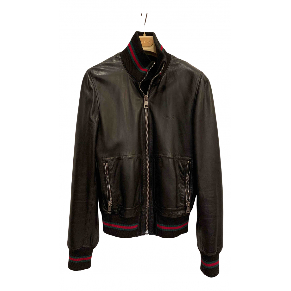 Gucci \N Black Leather Leather jacket for Women 44 IT