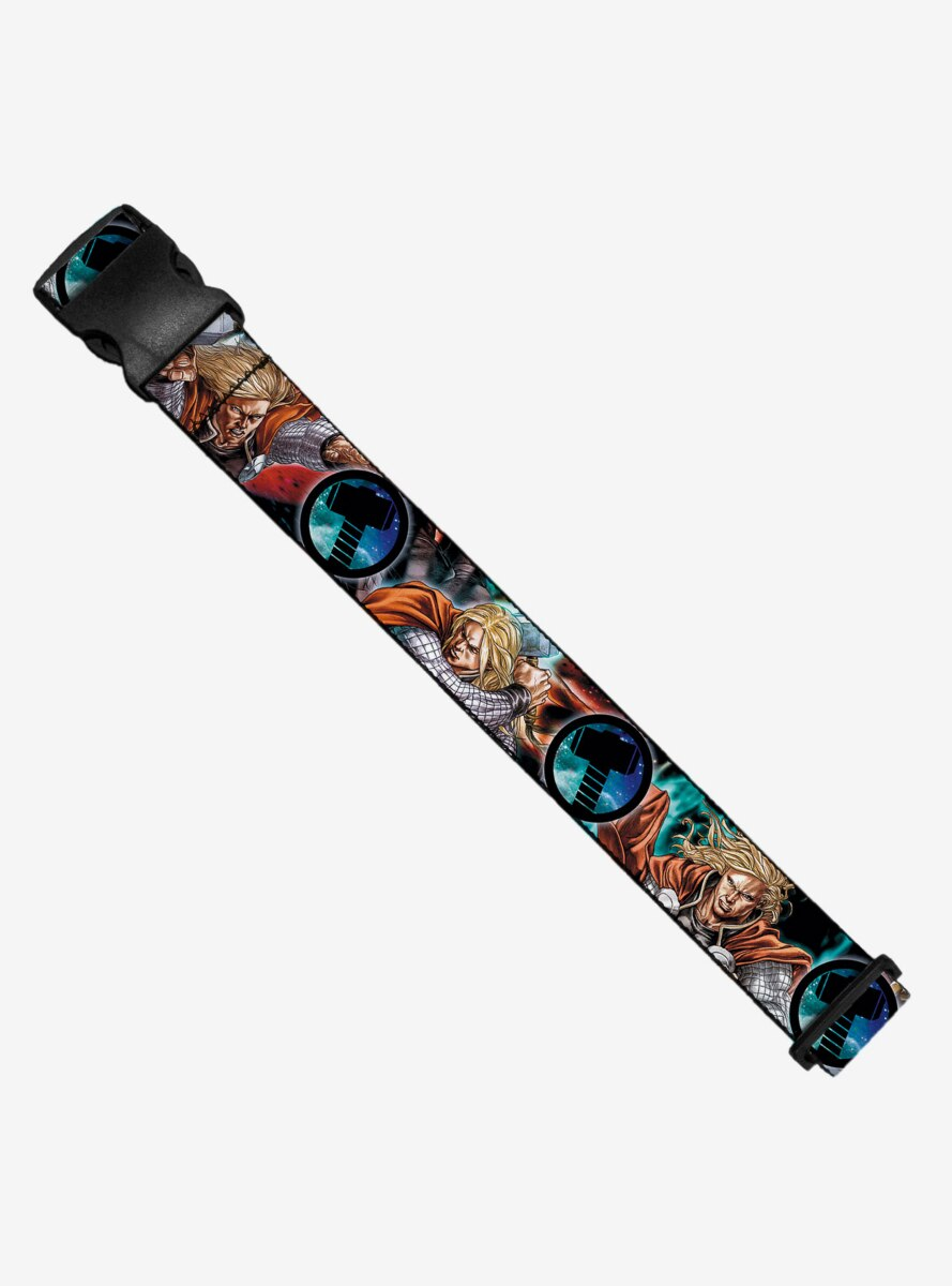 Marvel Astonishing Thor 3 Poses Hammer Logo Luggage Strap