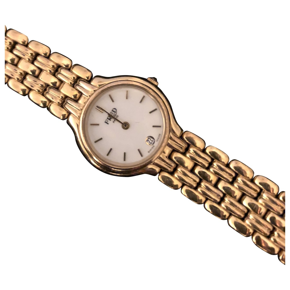 Fred \N Gold Gold plated watch for Women \N