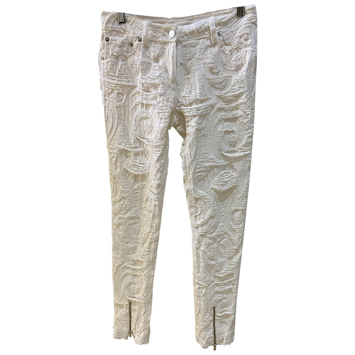 Fendi \N White Cotton Trousers for Women 40 IT