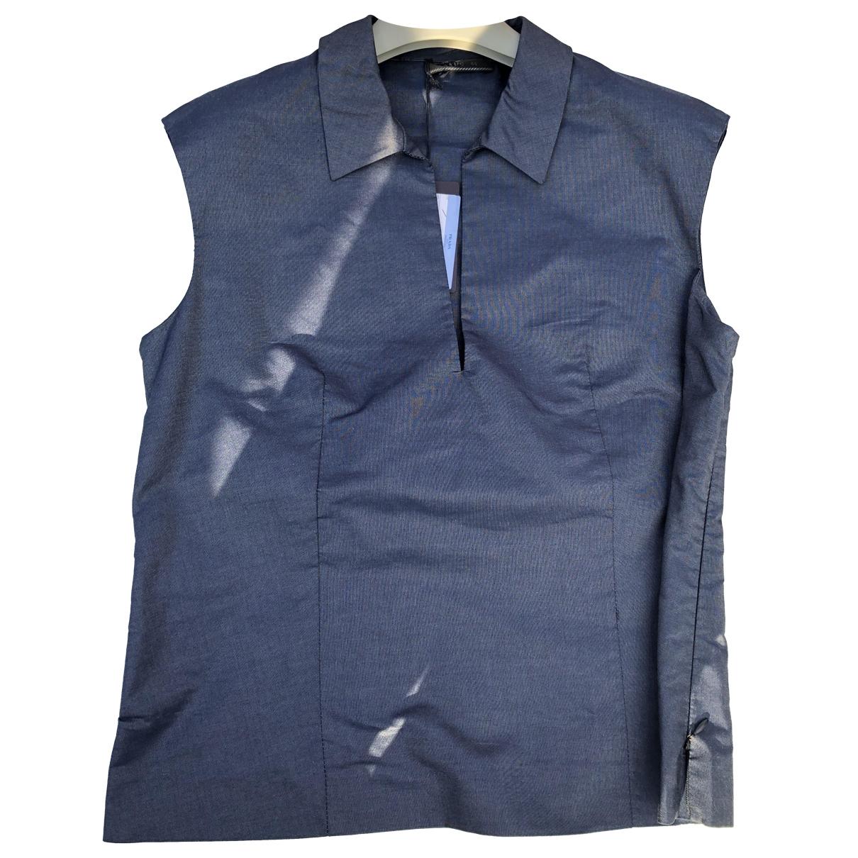 Prada \N Blue Cotton  top for Women 44 IT