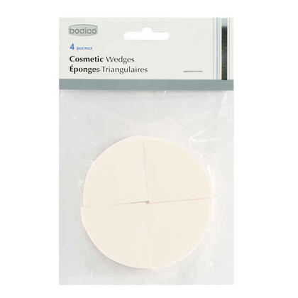 Triangle Cosmetic Sponges Makeup Wedges Foundation Powder Dry & Wet Puffs, 4pcs/pack