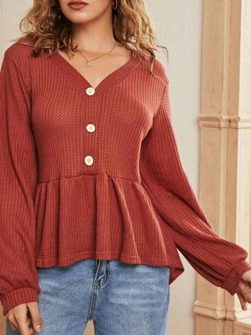 Ericdress Single-Breasted Regular Standard Long Sleeve Women's Sweater