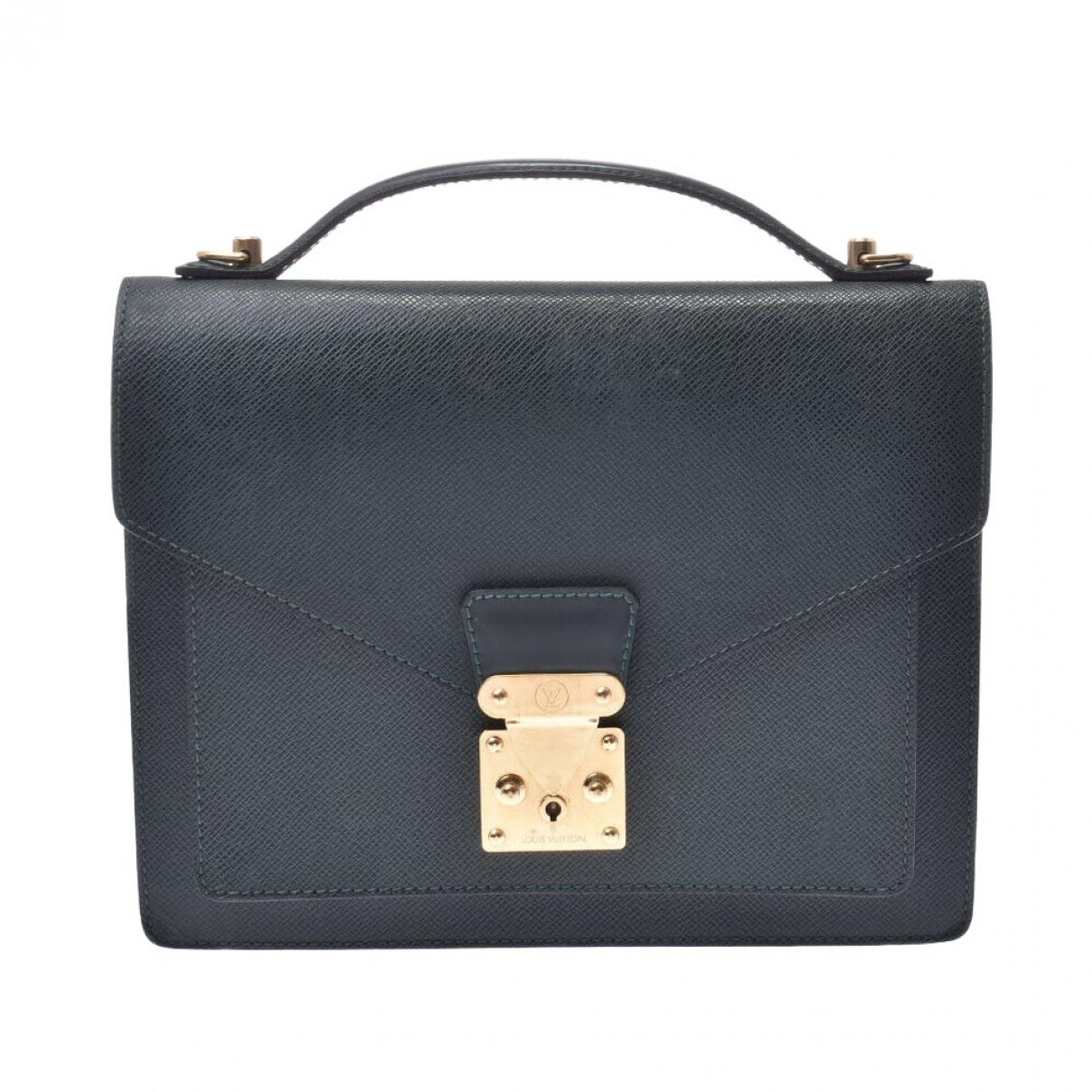 Louis Vuitton Monceau Black Leather handbag for Women \N