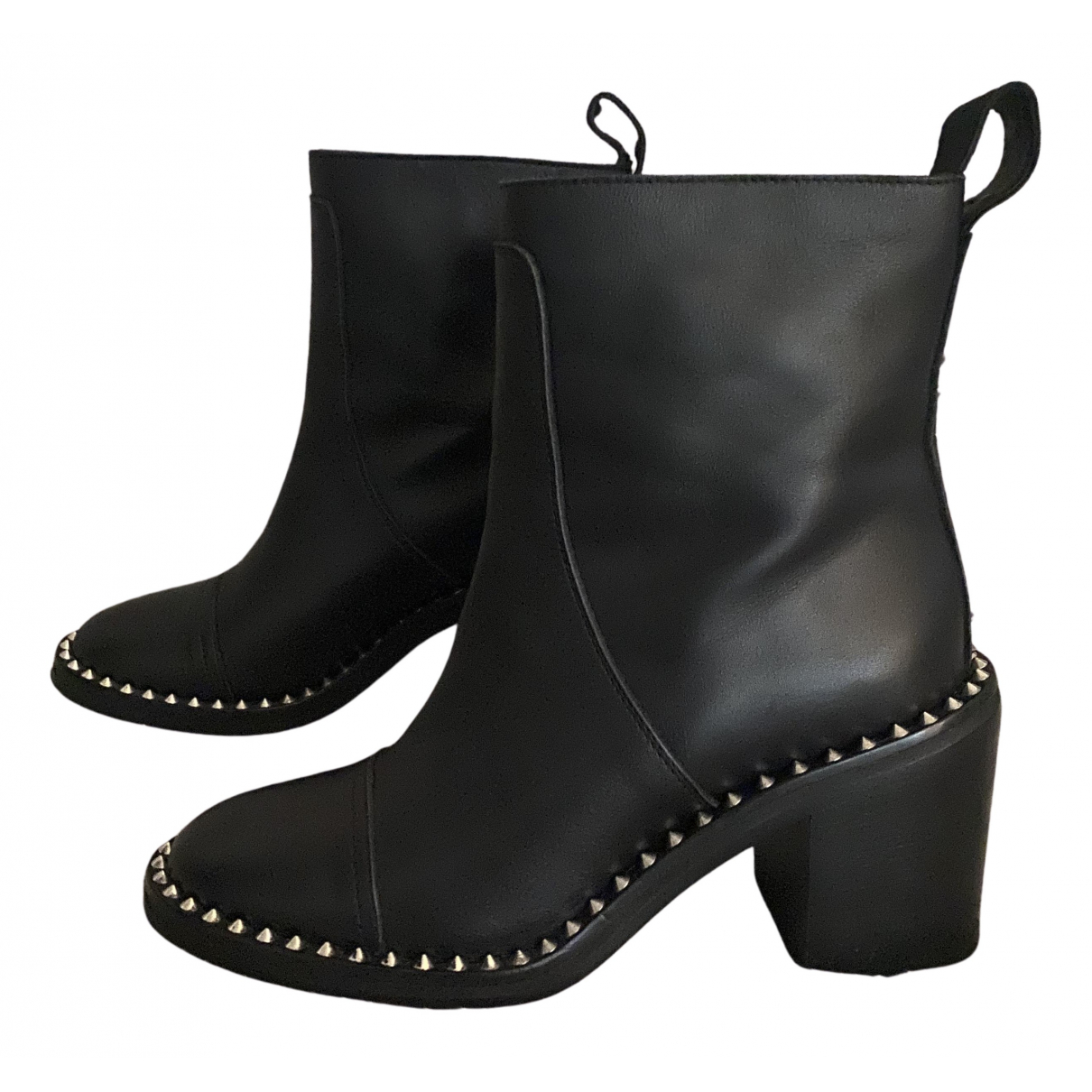 Zadig & Voltaire N Black Leather Ankle boots for Women 36 EU