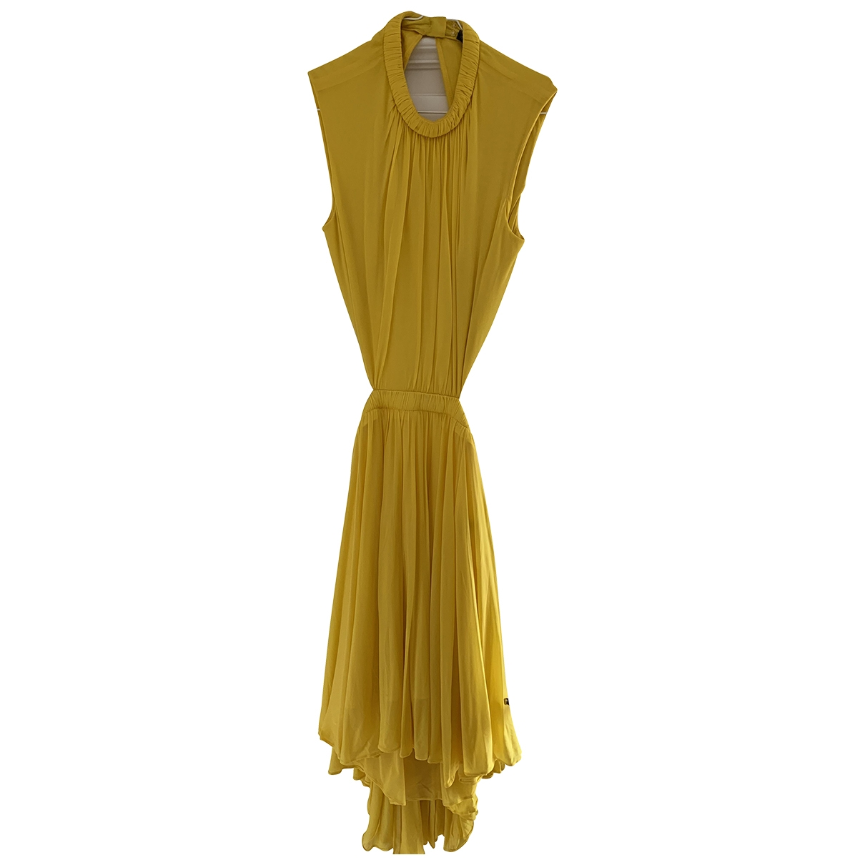 Alexander Mcqueen \N Yellow Silk dress for Women 38 IT
