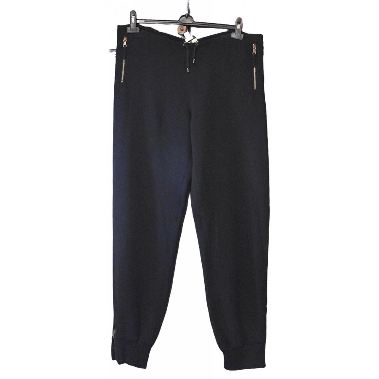 Jean Paul Gaultier \N Black Cotton Trousers for Women 40 IT