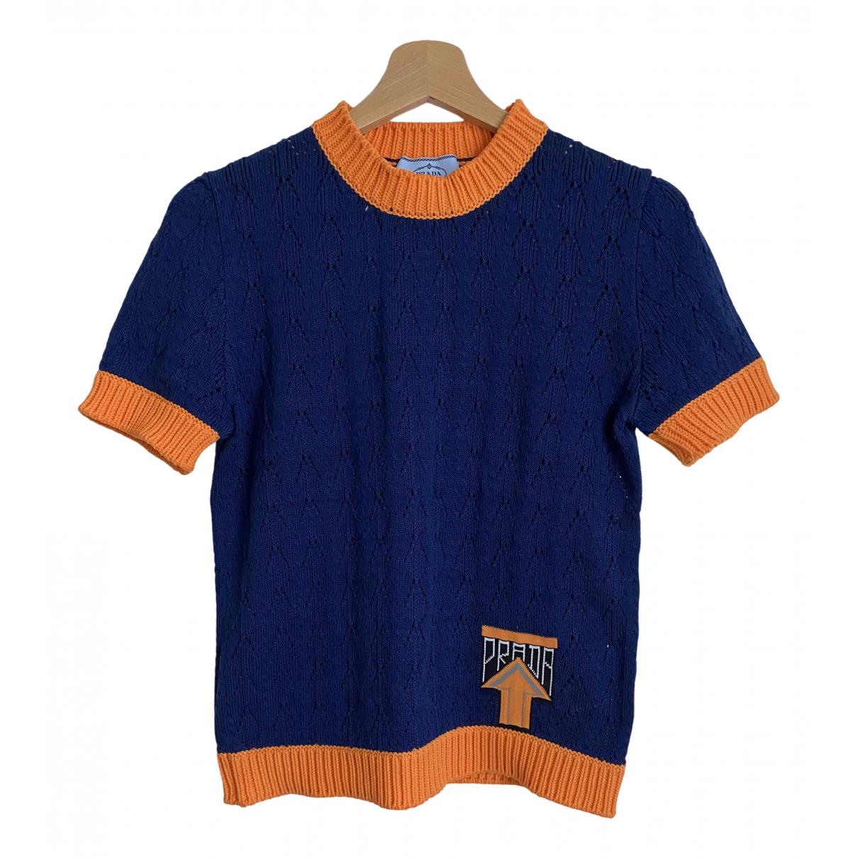 Prada \N Blue Cotton Knitwear for Women 40 IT