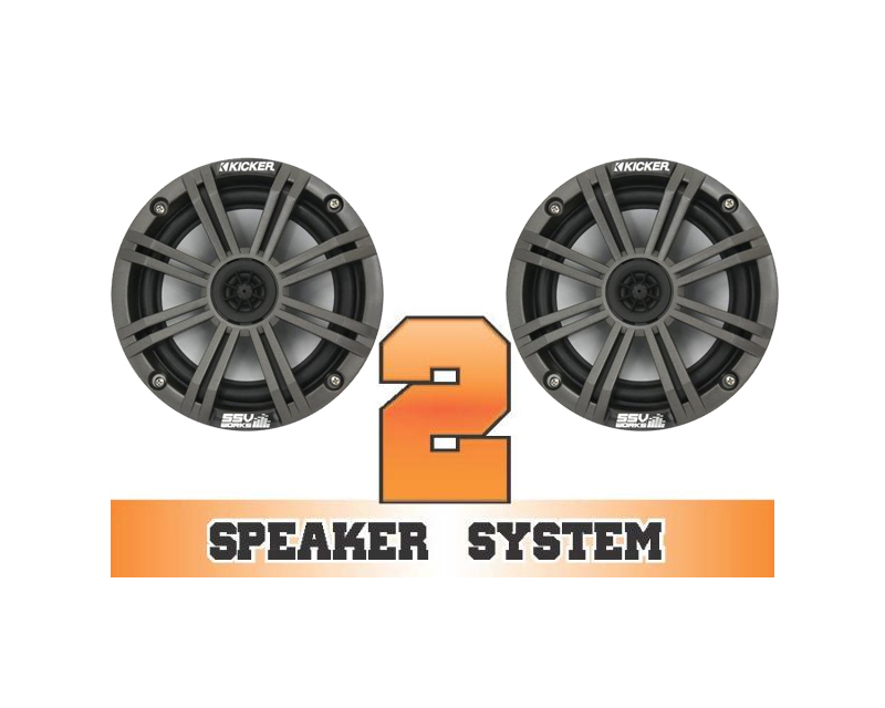 SSV Works COMMANDER-2K Complete 2 Kicker Speaker System Can-Am Commander 1000 X 11-13