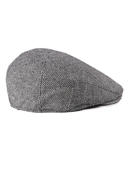 Milanoo Men Flat Cap 1920s Herringbone Newsboy Ivy Hat Vintage Accessories