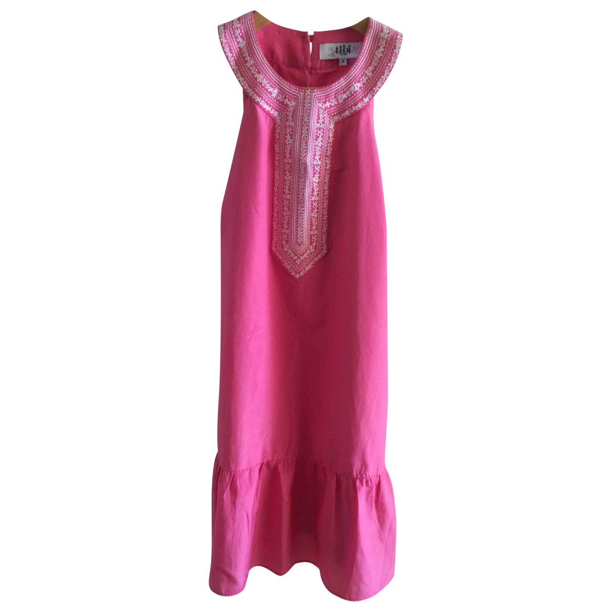 Tibi \N Pink Silk dress for Women 4 US