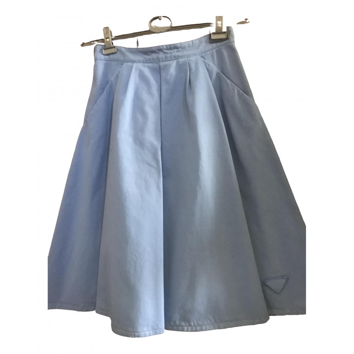 Prada \N Blue Cotton skirt for Women 46 IT