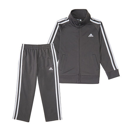 adidas Baby Boys 2-pc. Track Suit, 6 Months , Gray
