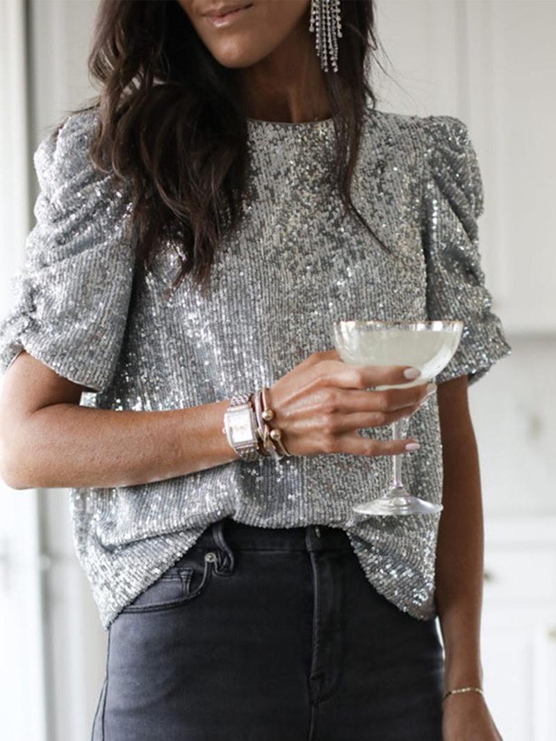 Ericdress Standard Plain Short Sleeve Straight Women's Casual T-Shirt