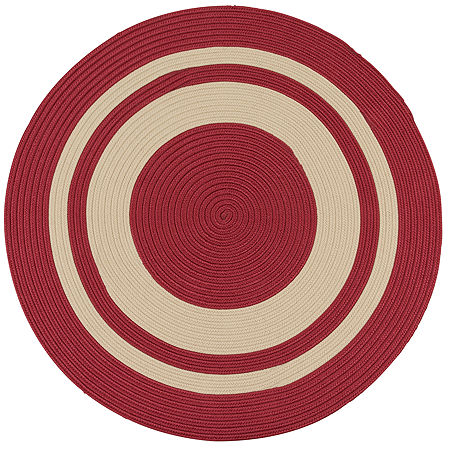 Colonial Mills Oceanside Braided Round Reversible Indoor/Outdoor Rugs, One Size , Red