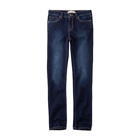 Levi's Big Girls 711 Skinny Fit Jean, 12 , Blue