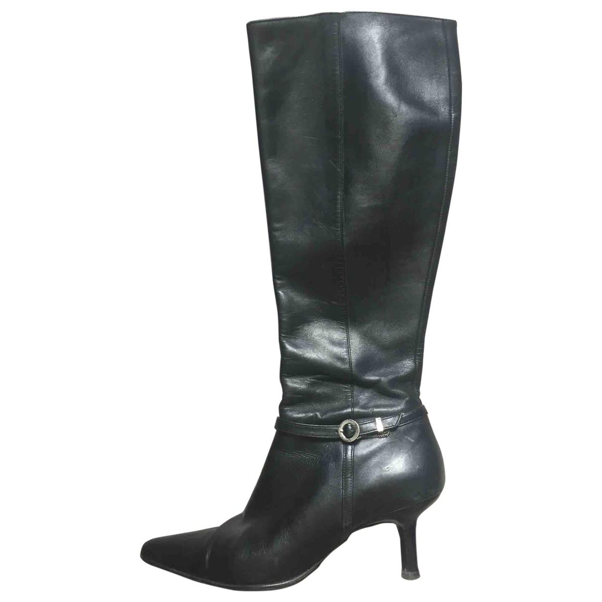 Kenzo \N Black Leather Boots for Women 37 EU