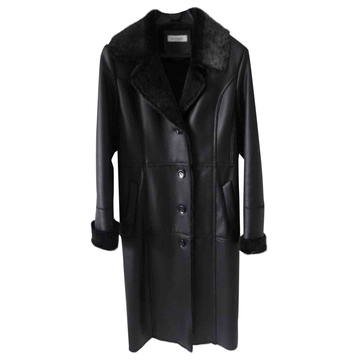 Balmain \N Black coat for Women 38 FR