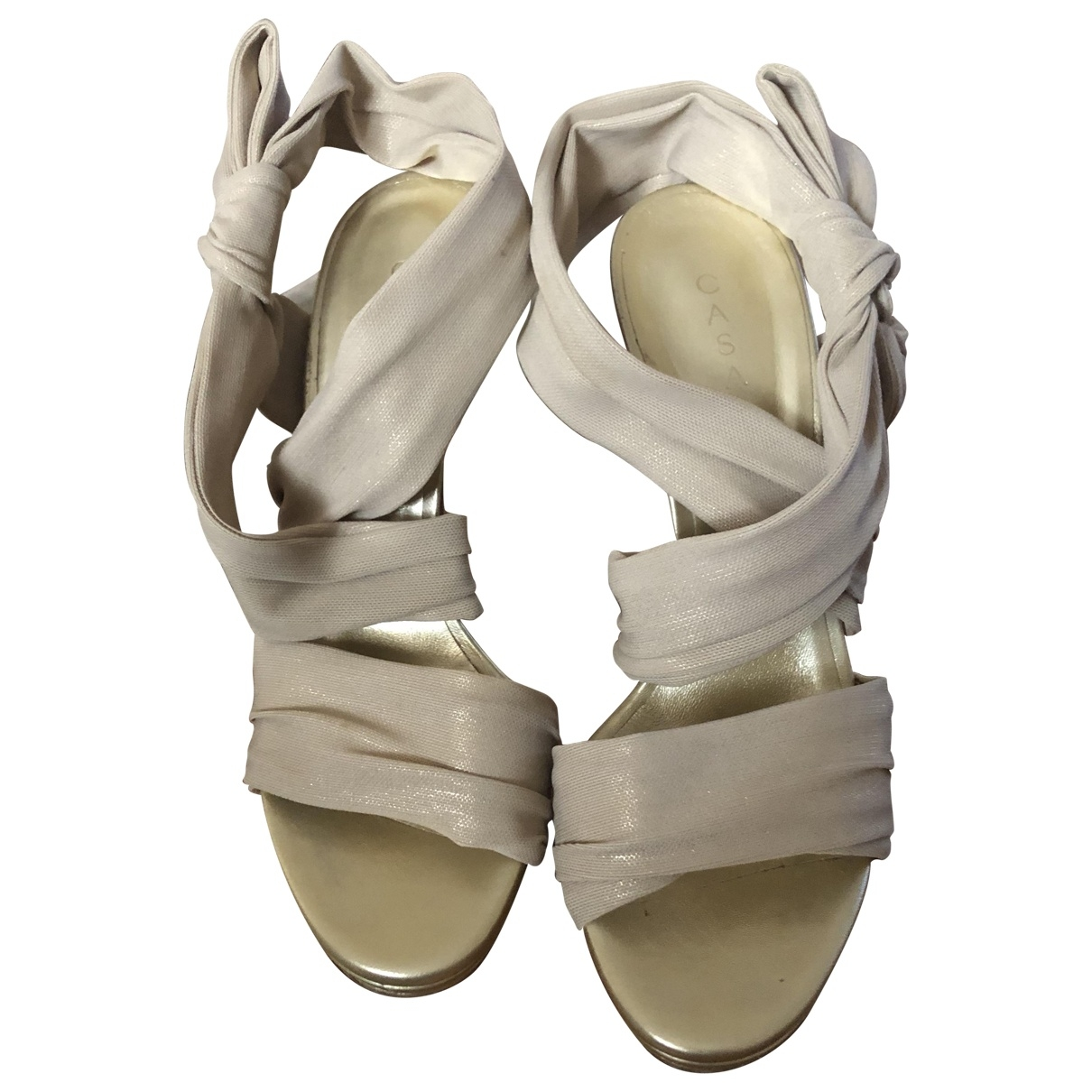 Casadei \N Gold Cloth Sandals for Women 40 IT