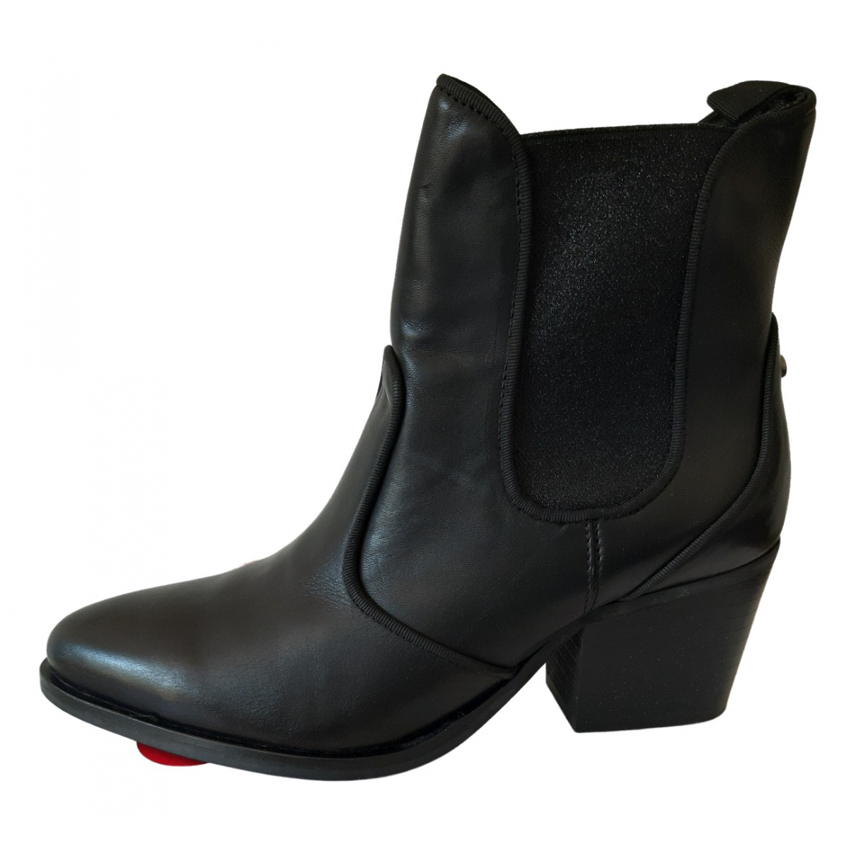 Guess \N Black Leather Boots for Women 38 EU