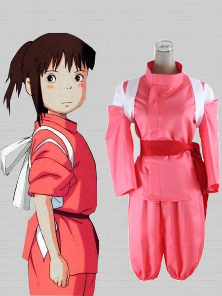 Milanoo Spirited Away Ogino Chihiro Cosplay Costume Kimono Version Halloween