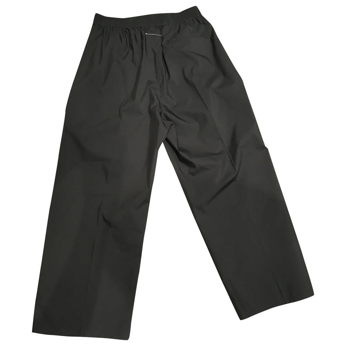 Mm6 \N Black Cotton Trousers for Women 42 IT