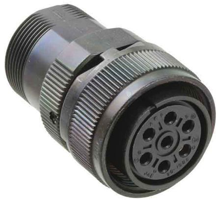 JAE Connector, 7 contacts Cable Mount Plug, Solder IP67