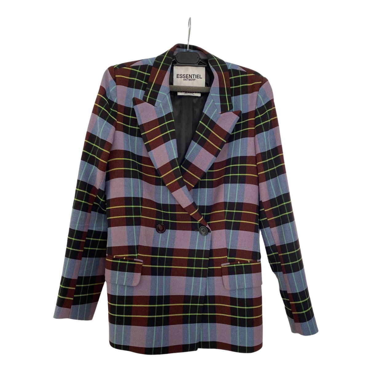 Essentiel Antwerp \N Black Cotton jacket for Women 34 FR