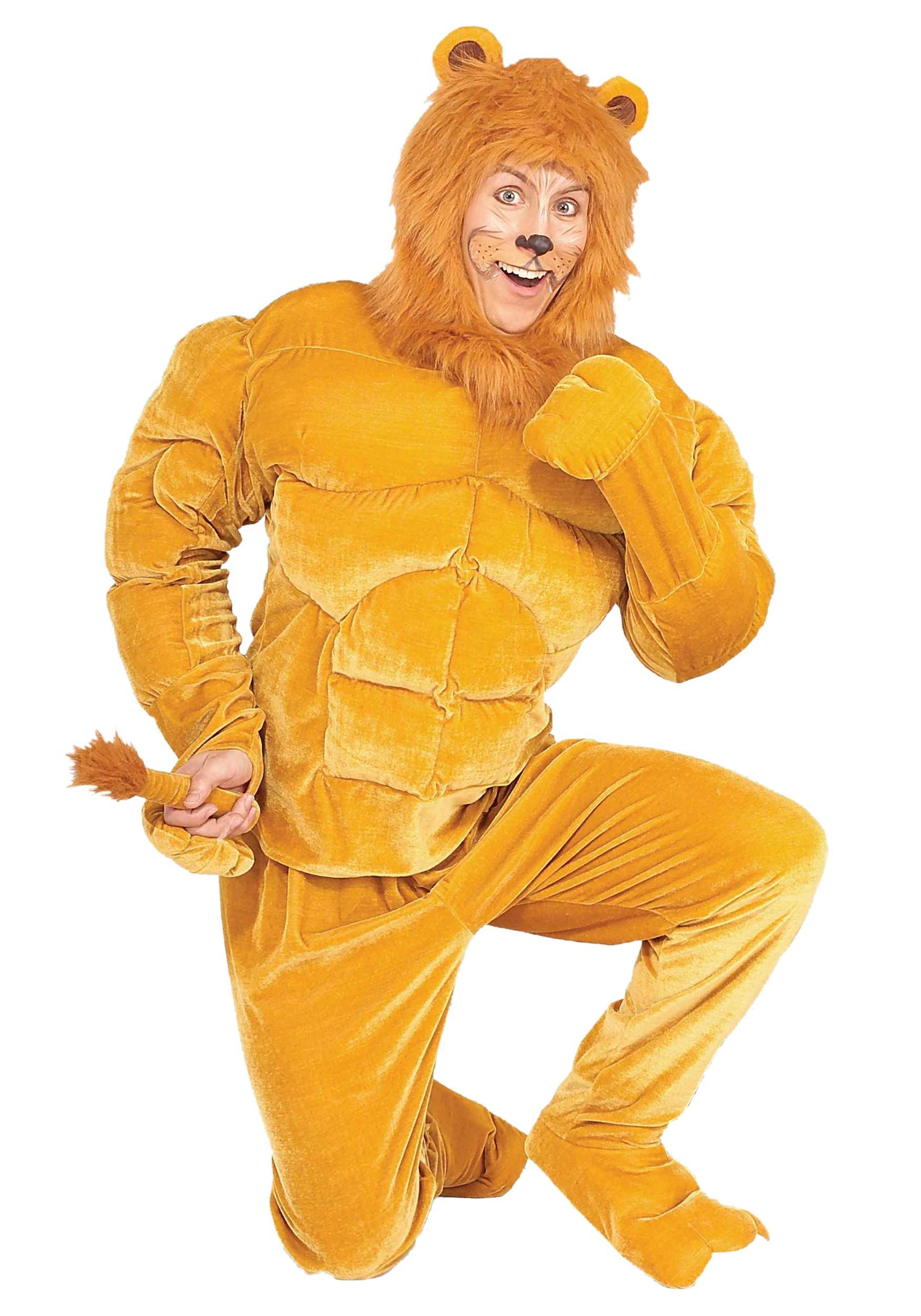 Plus Size Macho Lion Costume 2X