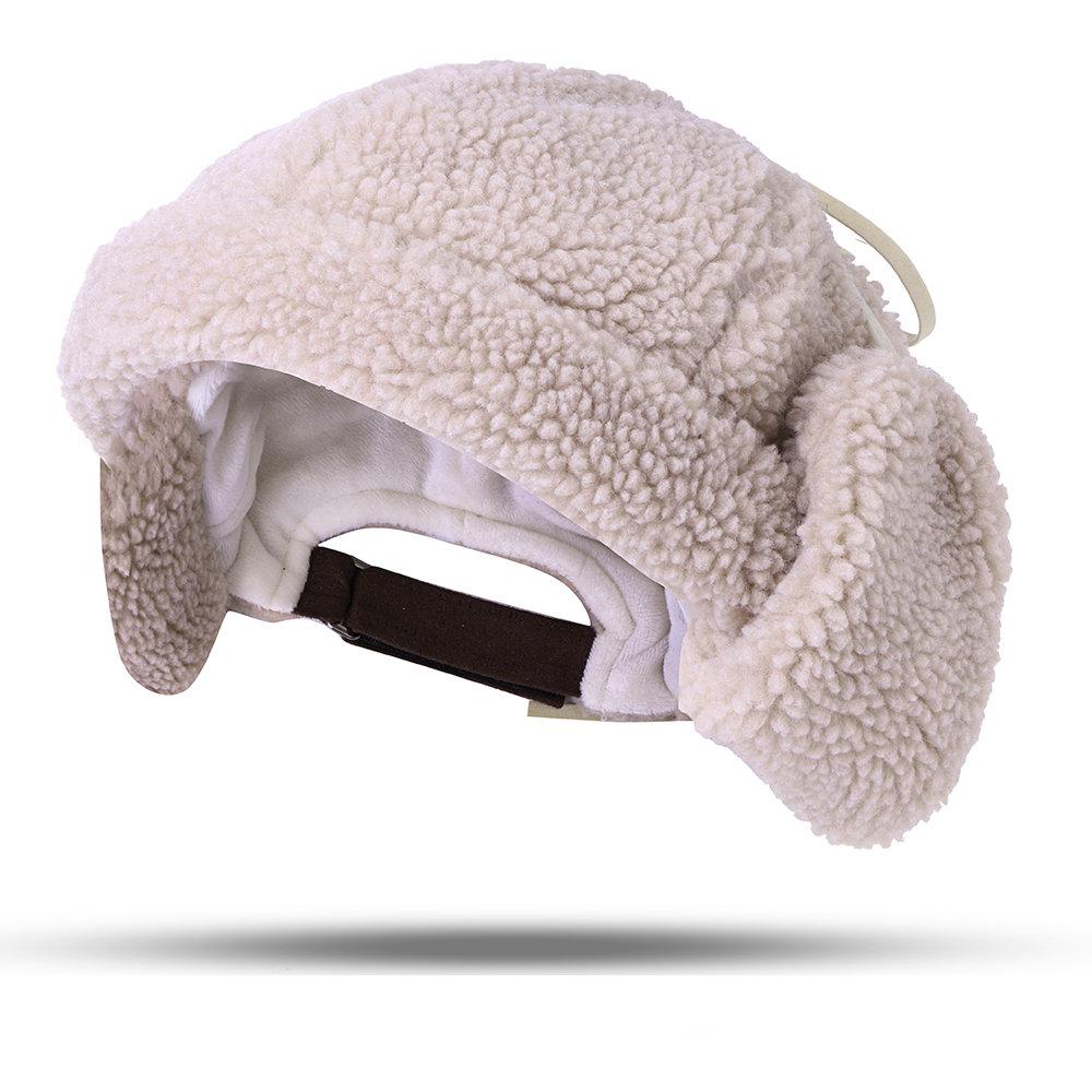Women Warm Lamb Cashmere Brimless Cap Outdoor Casual Windproof Ear Warm Hat