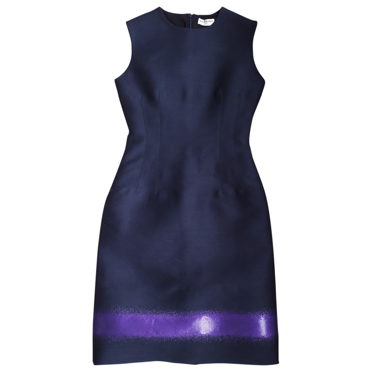 Balenciaga \N Blue Wool dress for Women 36 FR