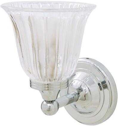 Ritz 30952ES Bathroom Wall Light with Clear Tulip Glass Shade 8 1/2