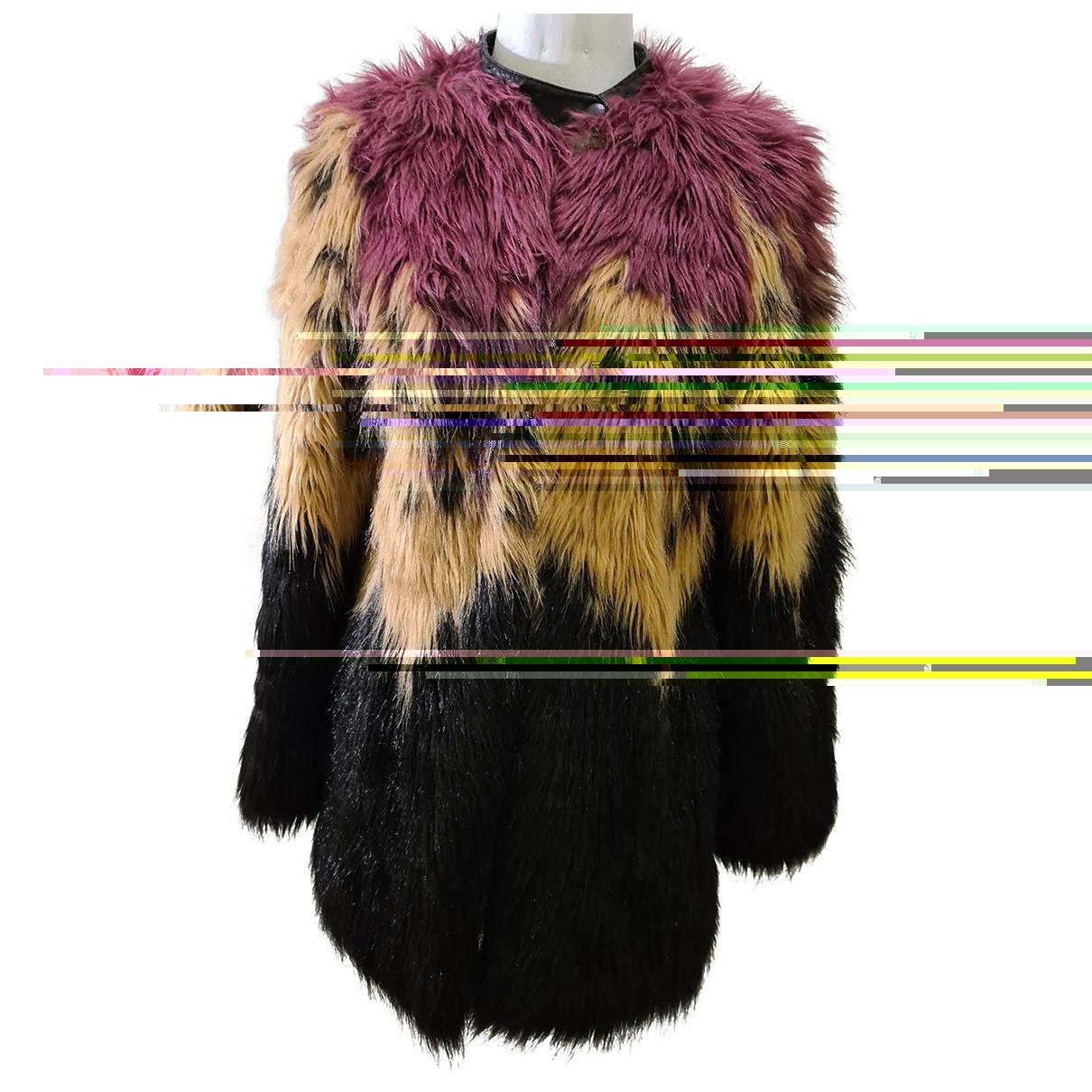 Diesel - Veste   pour femme en fourrure synthetique - multicolore