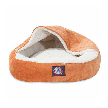 Majestic Pet 18 Canopy Cat Bed, One Size , Orange