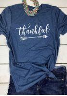 Thankful Arrow O-Neck T-Shirt