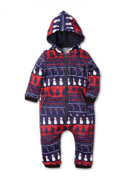 Milanoo Family Christmas Pajamas Matching Kids Purple Printed Jumpsuits For Children